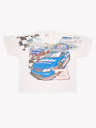 NASCAR Dale Earnhardt Jr T-Shirt White / Blue Size XXL