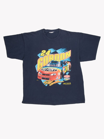 NASCAR Jeff Gordon T-Shirt Navy / Yellow / Red Size XXL