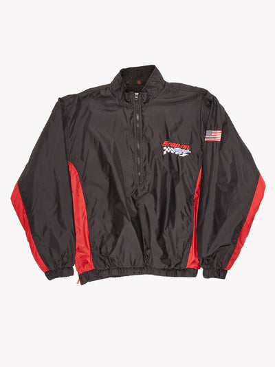 NASCAR Snap on Racing 1/2 Zip Jacket Black / Red Size XL