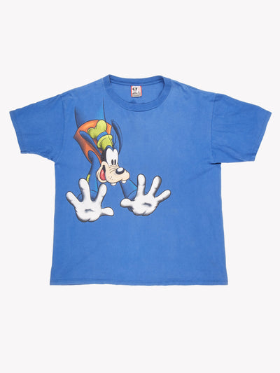 Disney Goofy T-Shirt Blue / White Size XXL