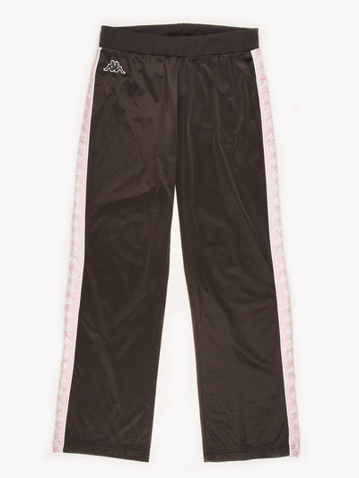 Kappa Flared Tracksuit bottoms Black / Pink Size Medium