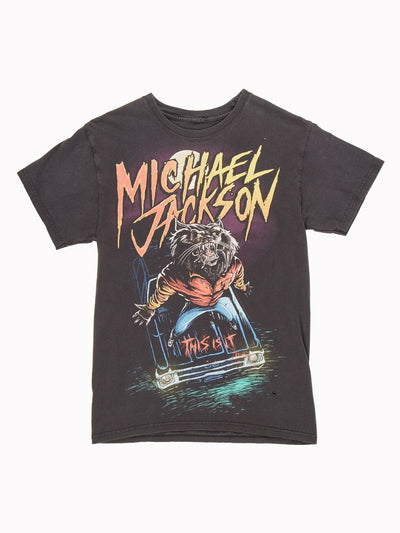 Michael Jackson T-Shirt Black / Yellow / Red Size XXS