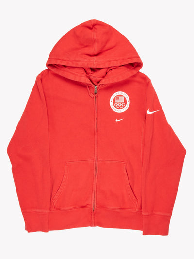 Nike USA Olympic Zip Up Hoodie Red / White Size Medium