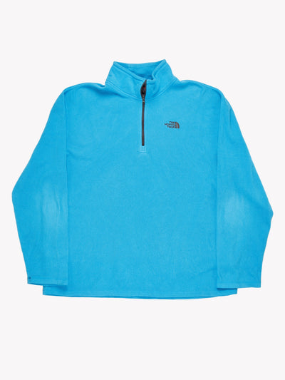 The North Face 1/4 Zip Fleece Blue Size XXL
