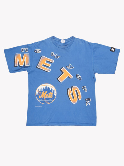 NY Mets MLB T-Shirt Blue / Orange / White Size XL