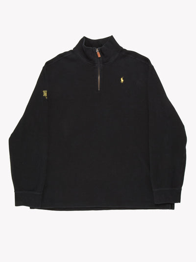 Polo Ralph Lauren 1/4 Zip Top Black Size XXL