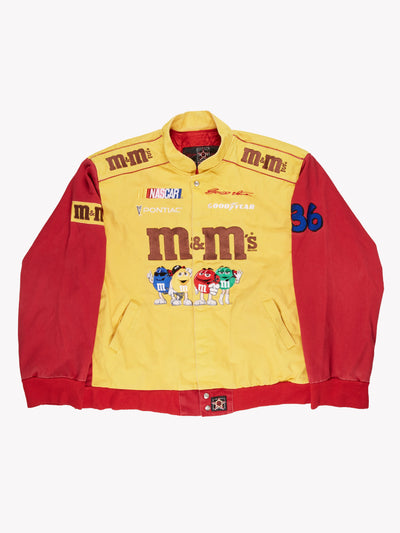 NASCAR M&M's Jacket Yellow / Red / Brown Size XXL