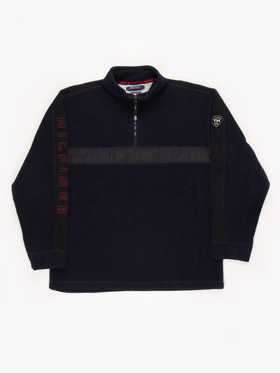 Tommy Hilfiger Spell Out Fleece Navy/Black/Red Size XXL
