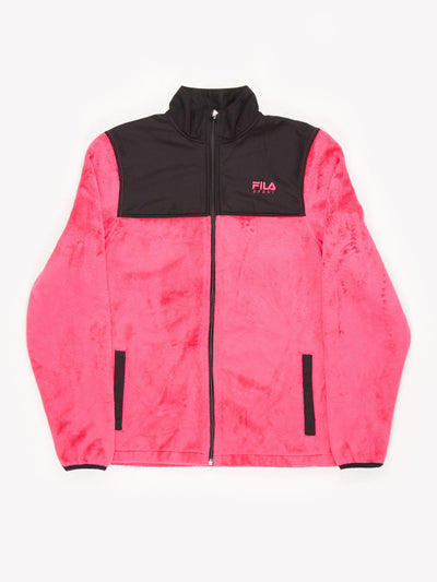 Fila Sport Zip Up Fleece Pink/Black Size Medium