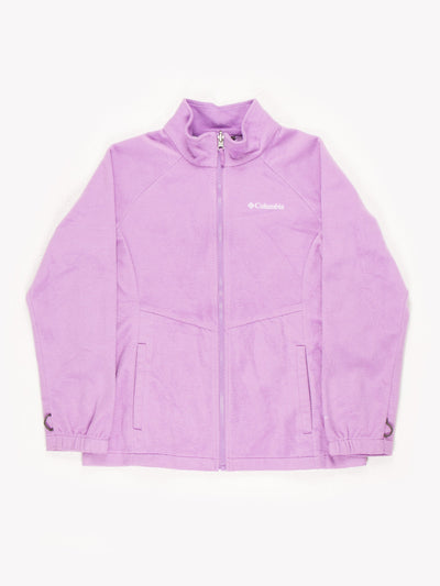 Columbia Womens Zip Up Fleece Lilac Size Medium