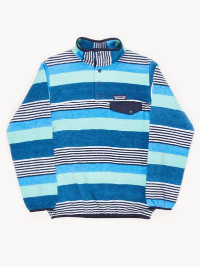 Patagonia Patterned Fleece Blue/White Size Small