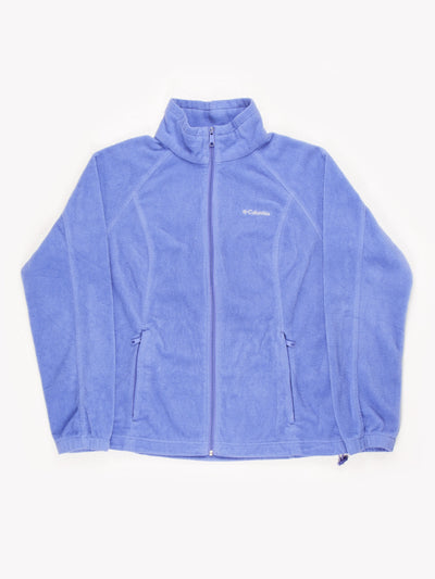 Columbia Zip Up Fleece Lilac Size Medium