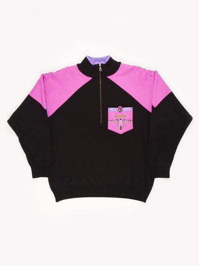 Colour Block Fleece Black/Purple Size XXL
