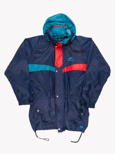 Helly Hansen Jacket With Drawstring Detail Navy/Red/Green Size XXL