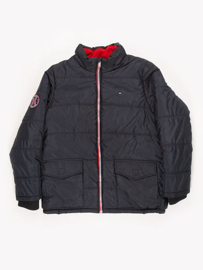 Tommy Hilfiger Puffer Jacket Black Size Medium