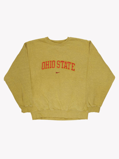 Nike 'Ohio State' Overdyed Sweatshirt Green/Red Size XXL