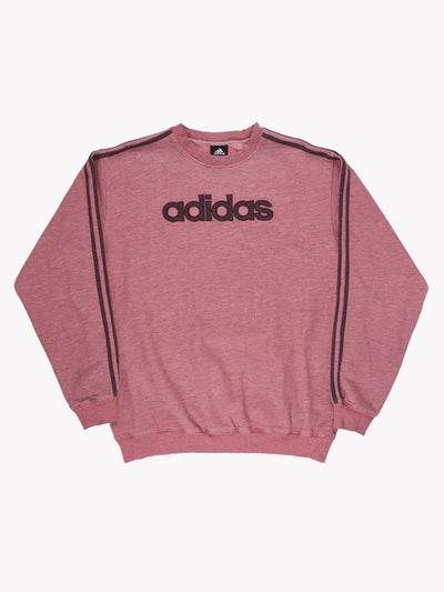Adidas Spell Out Overdyed Sweatshirt Pink/Purple Size XXL