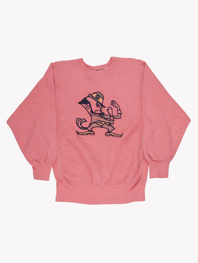 Champion Overdyed 'Notre Dame Fighting Irish' Sweatshirt Pink/Blue/Yellow Size Medium