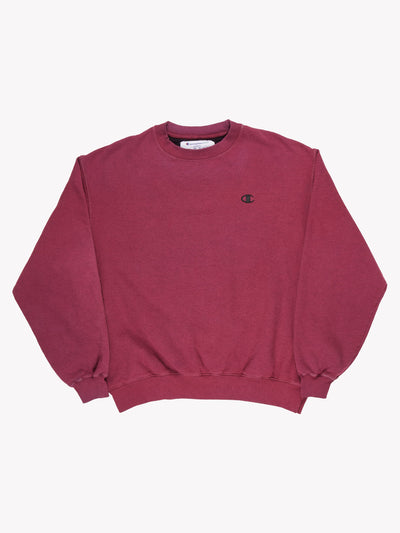 Champion Overdyed Sweatshirt Purple Size XXL