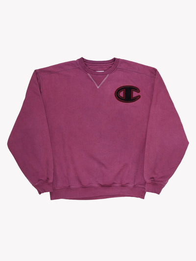 Champion Overdyed Sweatshirt Purple/Black Size XXL