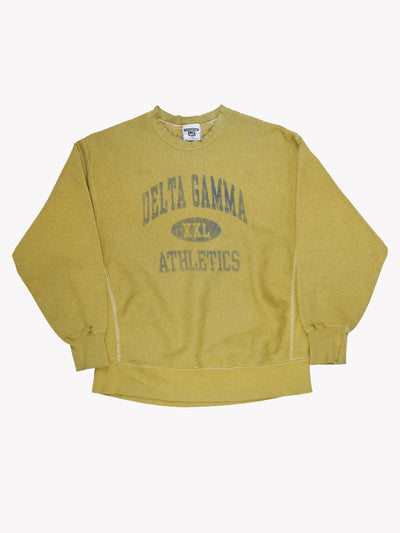 Lee 'Delta Gamma Athletics' Overdyed Sweatshirt Green/Blue Size XXL