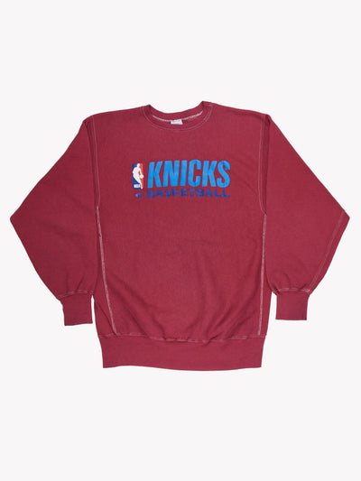 Champion Knicks Basketball Overdyed Sweatshirt Purple/Blue Size XXL