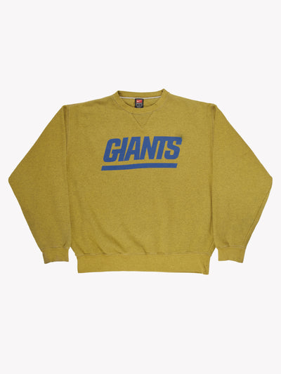 Nike NY Giants NFL Overdyed Sweatshirt Green/Blue Size XXL