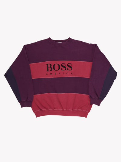 Hugo Boss Overdyed Sweatshirt Purple/Pink Size XXL