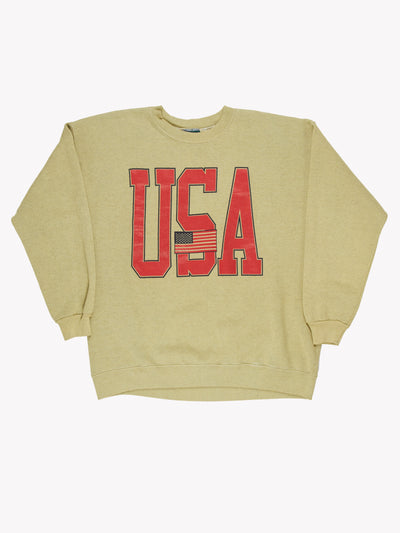 USA Overdyed Sweatshirt Green/Red Size XXL