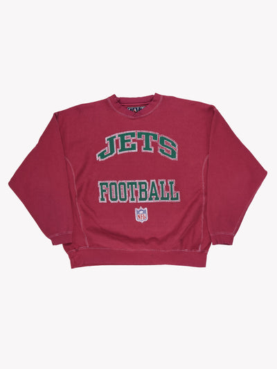 NY Jets NFL Overdyed Sweatshirt Purple/Green Size XXL