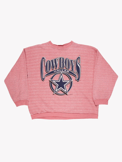 Dallas Cowboys NFL Overdyed Sweatshirt Pink/Blue Size XXL