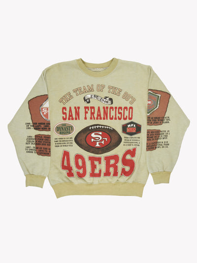 San Francisco 49ers NFL Overdyed Sweatshirt Green/Red Size