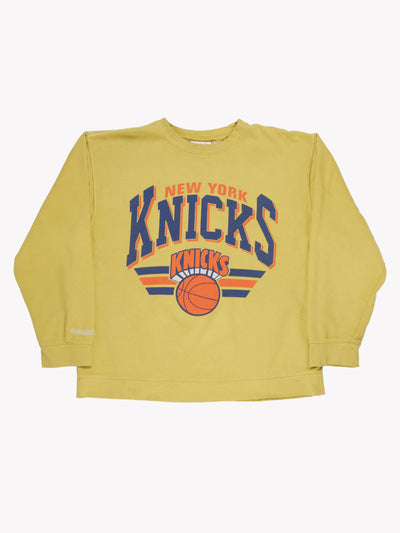 New Yorks Knicks NBA Overdyed Sweatshirt Green/Blue/Orange Size XXL