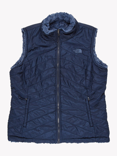 The North Face Womens Reversible Fleeced Gilet Navy Size Large