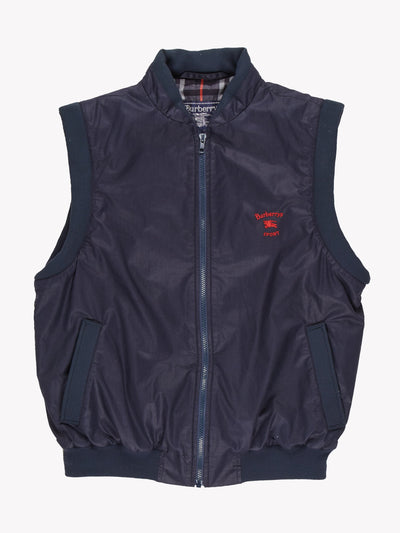 Burberry Sport 1990's Nova Checked lined Gilet Navy Size Large