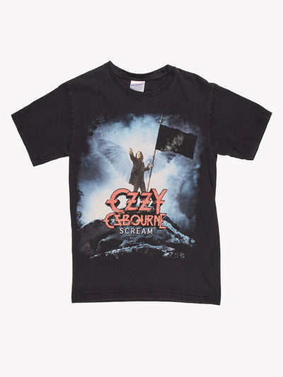 Ozzy Osbourne T-Shirt Black/Blue/Red Size XS