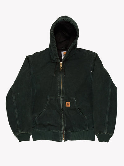 Carhartt Hooded Jacket Green Size Small