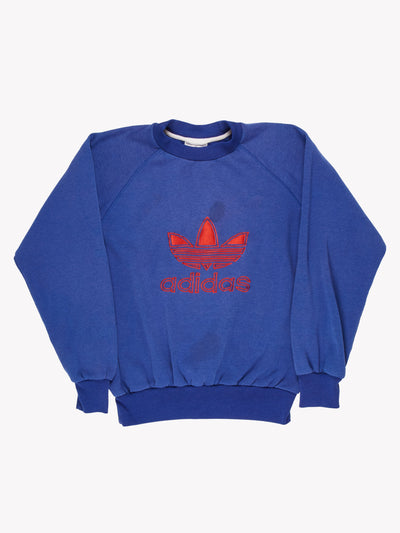 Adidas Sweatshirt Blue/Red Size Small