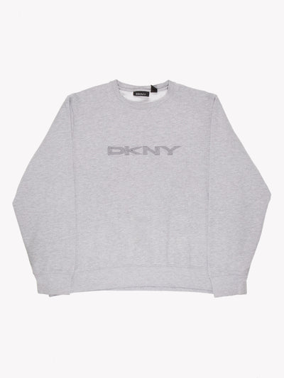 DKNY Spell Out Sweatshirt Grey Size XL