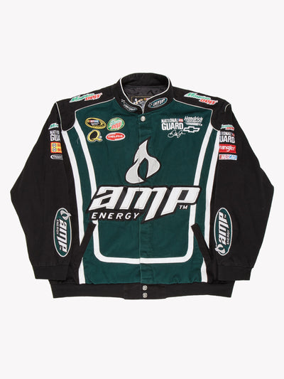 Nascar AMP Energy Jacket Black/Green Size XXL