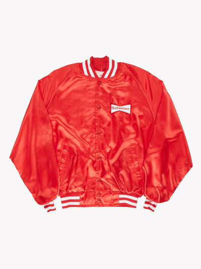 Budweiser Coach Jacket Red/White Size XL