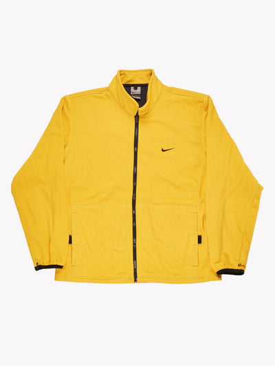 Nike Zip Up Fleece Yellow Size Large