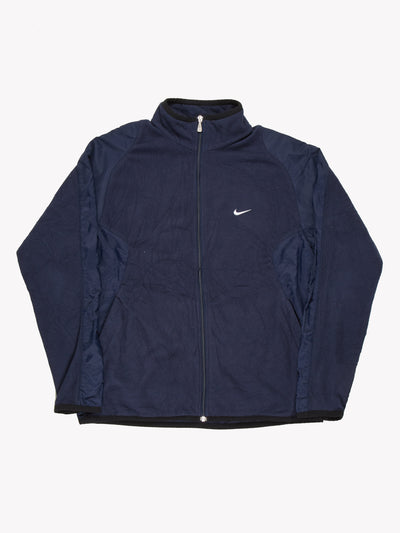 Nike Zip Up Fleece Blue Size Medium