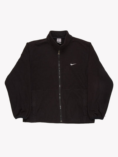 Nike Zip Up Fleece Black Size Large