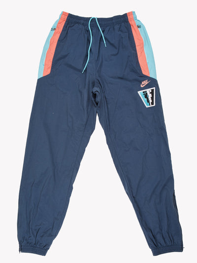 Nike Tracksuit Bottoms Blue/Pink Size Medium