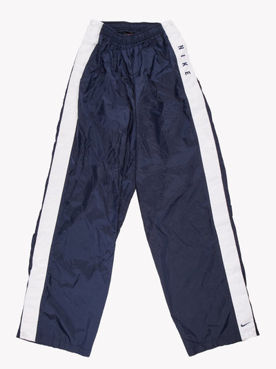 Nike Tracksuit Bottoms Navy/White Size Large