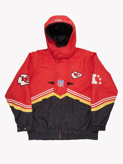 Kansas City Chiefs NFL Pro Sport Jacket Red / Yellow / Blue Size XL