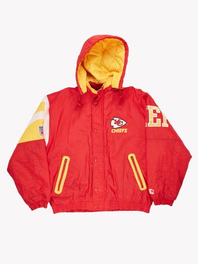 Starter Kansas City Chiefs NFL Jacket Red / Yellow / White Size Large