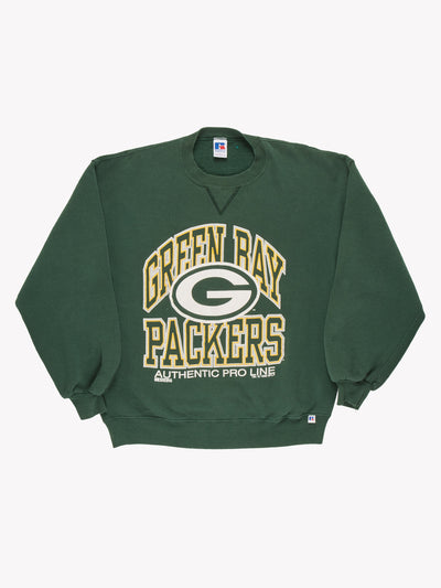 Green Bay Packers NFL Sweatshirt Green / Yellow / White Size Large