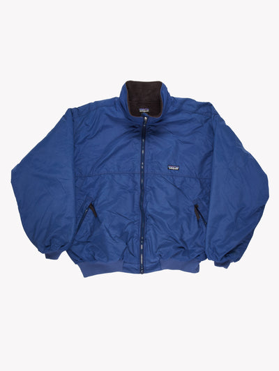Patagonia Fleece Lined Bomber Jacket Blue Size XL